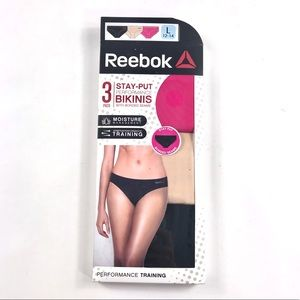 NEW Reebok Performance Panty 3 pack Large